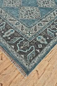 hand knotted rug dark blue gray rug orange county rugs orange county rugs