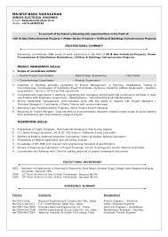 Electrical Engineer Resume Impressive MBN CVSENIOR ELECTRICAL ENGINEER