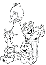 Sesame Street Characters Coloring Pages Sesame Street Characters