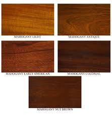 Mahogany Stain Color Chart Different Mahogany Colors Mahogany Stain Colors Fs347a In