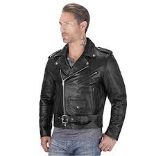 viking cycle american eagle premium grade cowhide leather motorcycle jacket for men