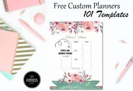 Custom Daily Planner Free Daily Planner Template Customize Then Print