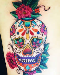 Mexican Sugar Skull Done By Eddy Rivera Rainbow Tattoo Quetetaro