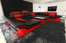 Modern Sectional Sofa ATLANTA XL Leather Couch with LED Lights eBay