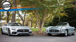 The Mercedes-AMG GT C Roadster And Mercedes-Benz 300SL Roadster ...