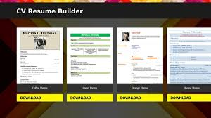 Cv Resume Builder Software Download Cv Resume Builder Free Latest Version Short Experience Resume Examples
