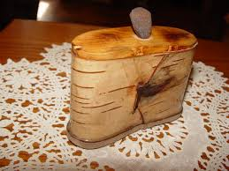 1940 s vine handmade birch bark snuff box minnesota