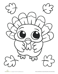 Coloring Pages For Thanksgiving Printable Free Turkey Coloring Page