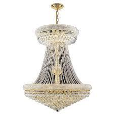 empire 28 light gold crystal chandelier