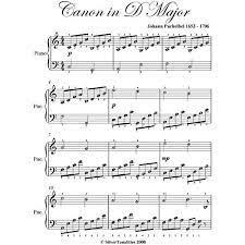 Canon in d sheet music. Canon In D Pachelbel Easy Piano Sheet Music By Johann Pachelbel