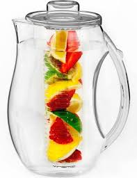 vremi fruit infuser water pitcher 2 5 liter plastic infusion pitcher with lid