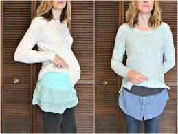 how to make belly bands with shirt hems diy com