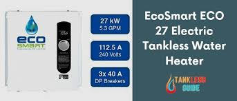 Ecosmart Tankless Water Heater Sizing Chart Ecosmart Eco 27 Reviews And Installation Guide Tanklesses