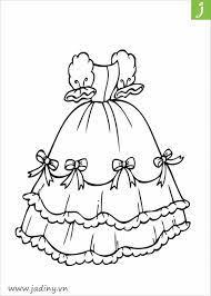 Bộ tranh tô màu cái váy rất đẹp cho bé gái từ 3 đến 7 tuổi - Jadiny