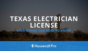 texas electrician license everything