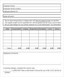 Excel Travel Expense Report Travel Expense Form Template Excel Free ...