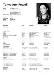 Example Actor Resume Examples Of Resumes