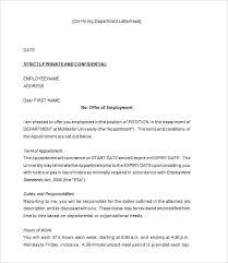 Formal Job Offer Template Sample Employment Offer Letter Template Clemsonparade Co