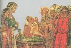 Возникновение славянских государств История Средних веков  Крещение болгар Миниатюра xiv в