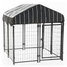 outdoor kennel with weatherproof cover 4 l x 4 w x 4 3ft h