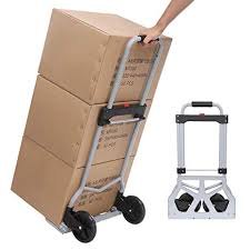 office trolley cart. Meharbour Folding Hand Truck,Lightweight Luggage Trolley Cart For Travel  Shopping Home Office (Silver Office Trolley Cart .