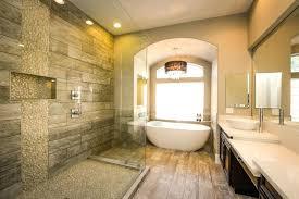 wood tile shower luxury river rock shower with wood grain style porcelain tiles wood tile shower