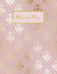 Amazon Com Miss To Mrs Beautiful Undated Wedding Planner