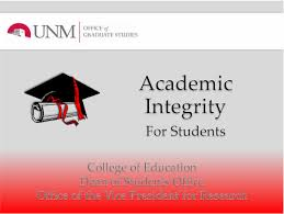 academic integrity tutorial graduate studies the university  slide icon academic integrity