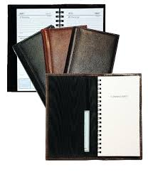 glazed style leather weekly planners planner bound monthly