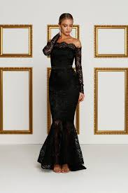 Alamour The Label Size Chart Kamali Lace Gown Black Alamour The Label In 2019