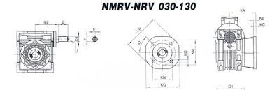 Transmission Size Chart Size Chart Dimensions Of Nmrv Nrv China Worm Gear Speed