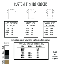 Custom T Shirt Order Form - April.onthemarch.co