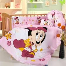 baby minnie bedding set mickey mouse cotton baby bedding set of pieces unpick and wash babies