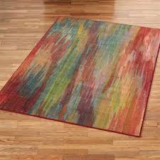 pantone universe prismatic multicolored rugs prismatic rectangle rug red