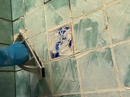 apply grout diagonally to the joints