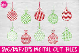 pattern christmas ornaments svg dxf eps cut file exle image 1