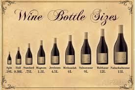 Wine Magnum Size Chart Wine Bottle Size Chart Poster Edison Artwork Wine Wall