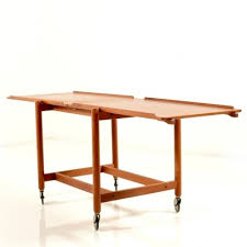 coffee table serving trolley by poul