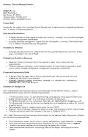 Inventory Control Resume New Wonderfull Design Inventory Control Resume Resume Inventory Resume