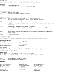 Dance Resume Samples For College
