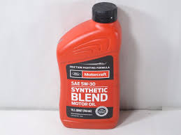 motorcraft sae 5w 30 synthetic blend motor oil xo 5w30 qsp 1 case 12 quarts 31508004238 ebay