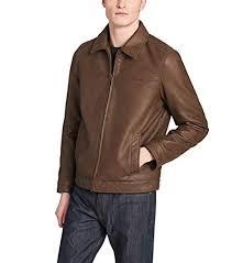 dockers brown big and tall big tall james classic faux leather laydown collar jacket view fullscreen