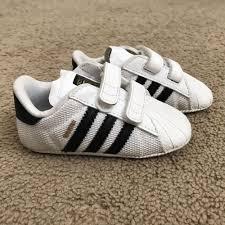 Adidas Crib Shoe Size Chart Adidas Originals Superstar Crib Shoes For Baby White