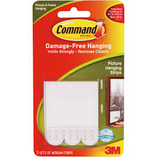 command large sawtooth picture hangers white 3 hangers 6 strips com