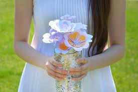 Paper Flower Centerpieces At Wedding Crafts Seed Paper Flowers For Summer Wedding Centerpieces