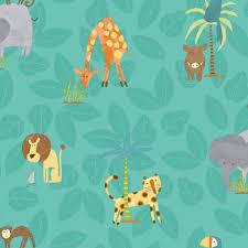 jungle wallpaper for kids. Simple For Holden Jungle Friends Childrens Animal Wallpaper Lion Monkey Kids Cartoon  12542 On For N
