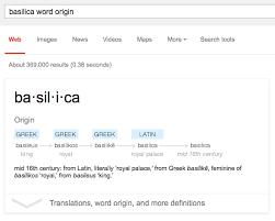 Word Origin Word Origin Google Search Card