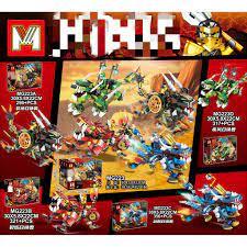 Đồ chơi lắp ráp MG223 Ninjago logo Xếp mô hình Ninja Kai Lloyd Jay Cole  Season Phần 13 Rồng Kỳ Lân trọn bộ 4 hộp tại Sóc Trăng