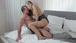 Hairy blonde Zuzana gets a nice fuck in the bedroom Shameless