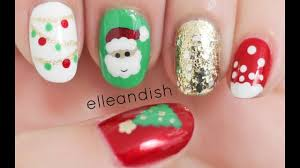 Easy Christmas Designs For Your Nails Easy Christmas Nails Freehand